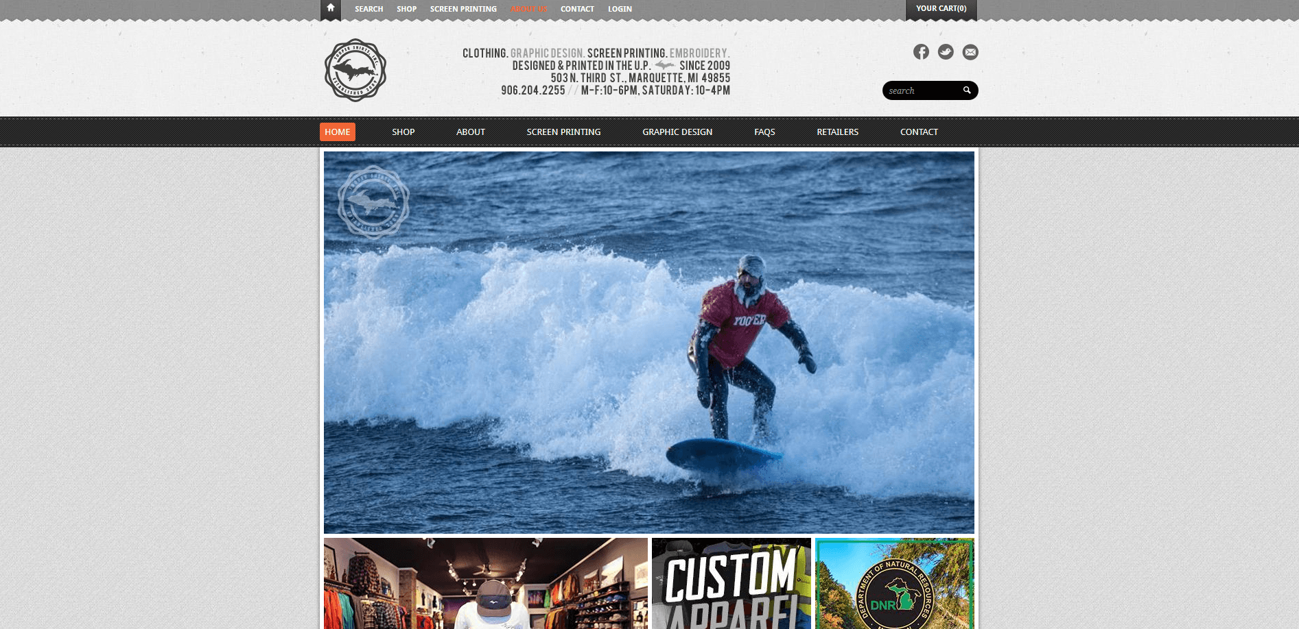 winter surfing front page